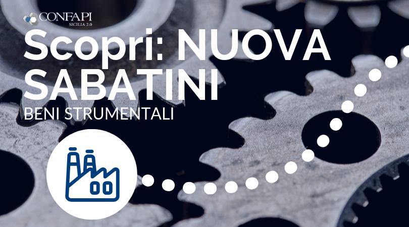 NUOVA SABATINI: finanziamenti per investimenti in Beni Strumentali