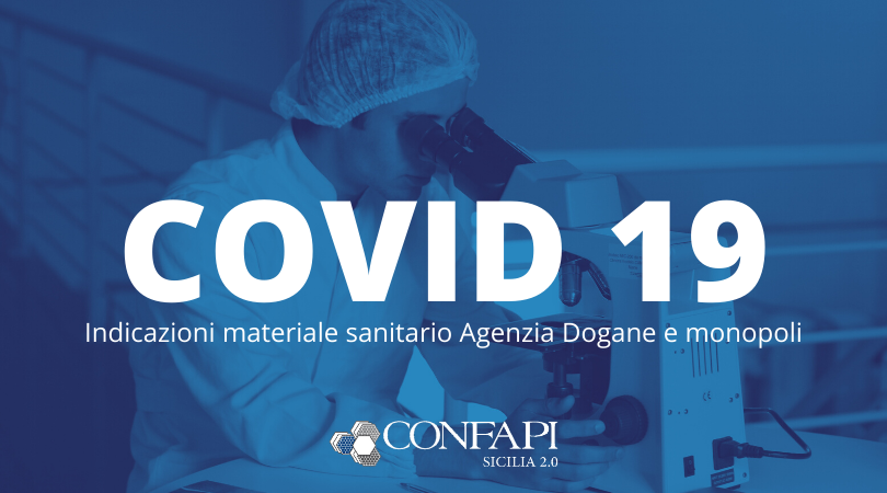 #Coronavirus: comunicato Agenzia Dogane e Monopoli per il materiale sanitario