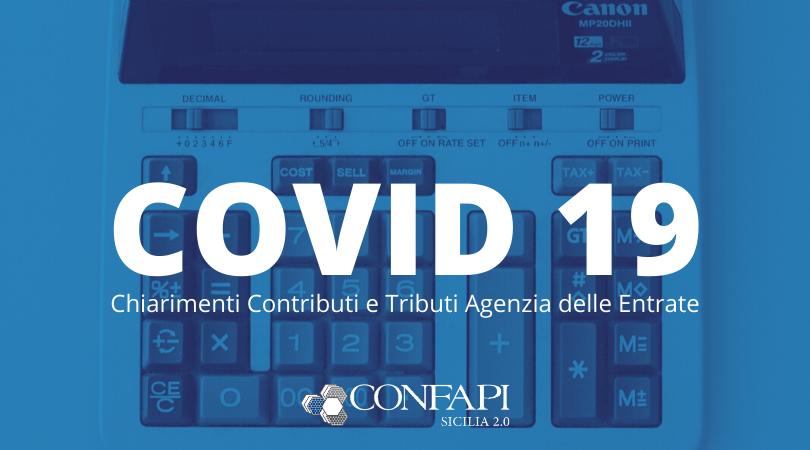 COVID-19: Agenzia delle Entrate e sospensione dei versamenti tributari e contributivi
