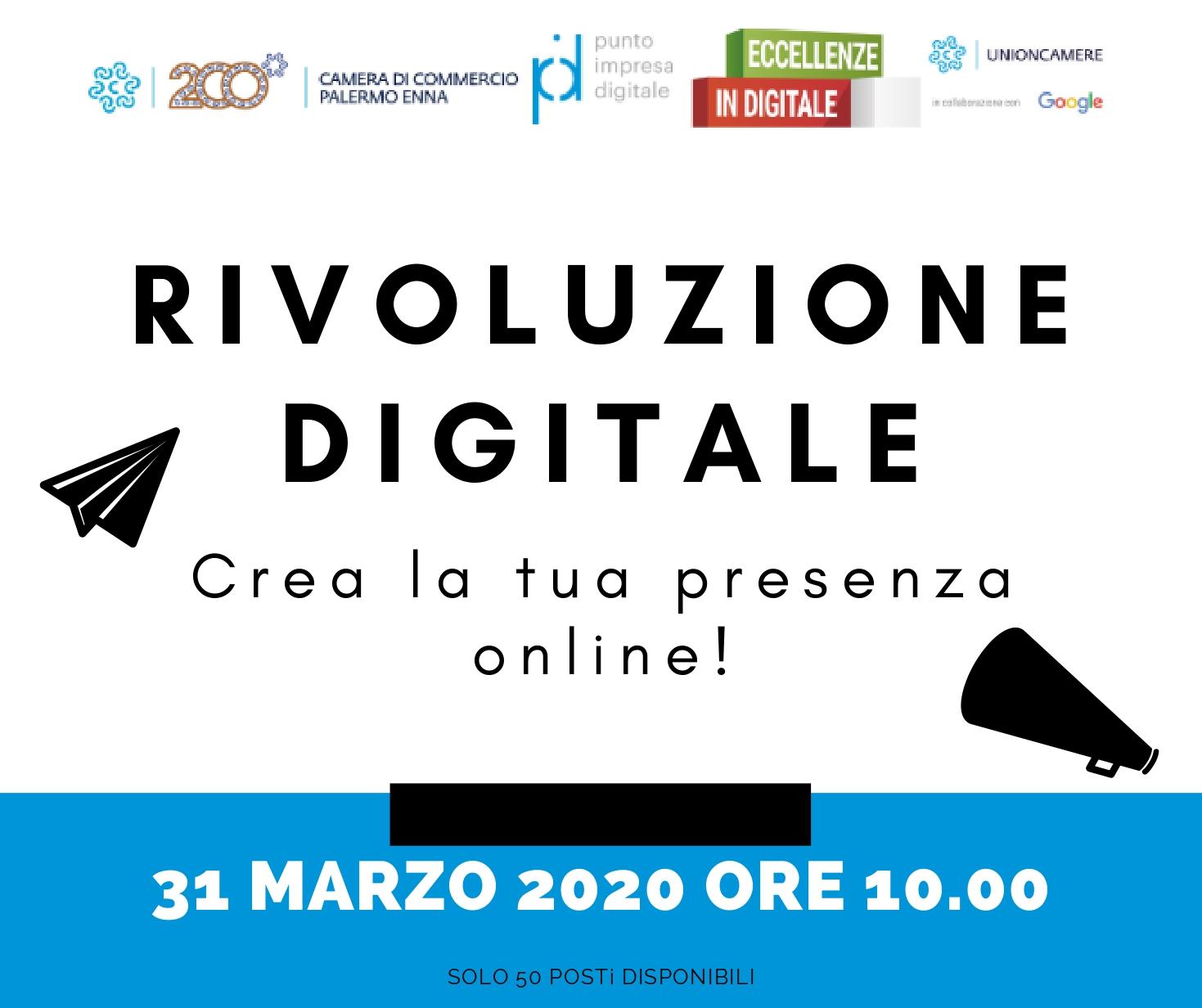 Crea la tua presenza online: webinar gratuito della Camera di Commercio di Palermo-Enna