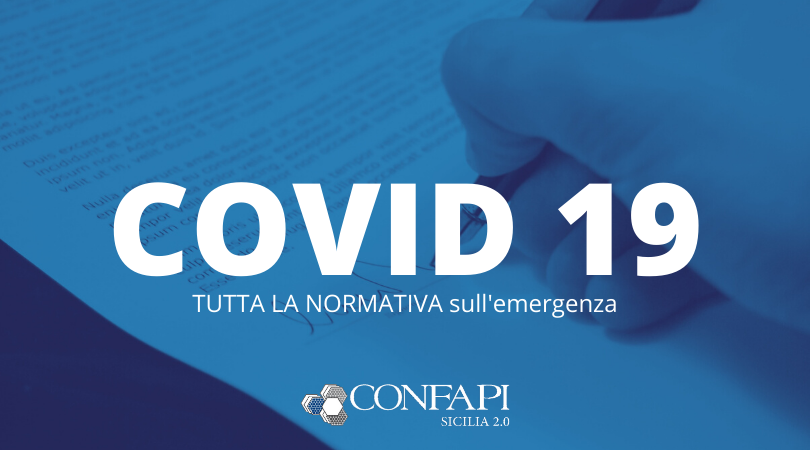 Coronavirus: aggiornamento normativa nazionale e regionale