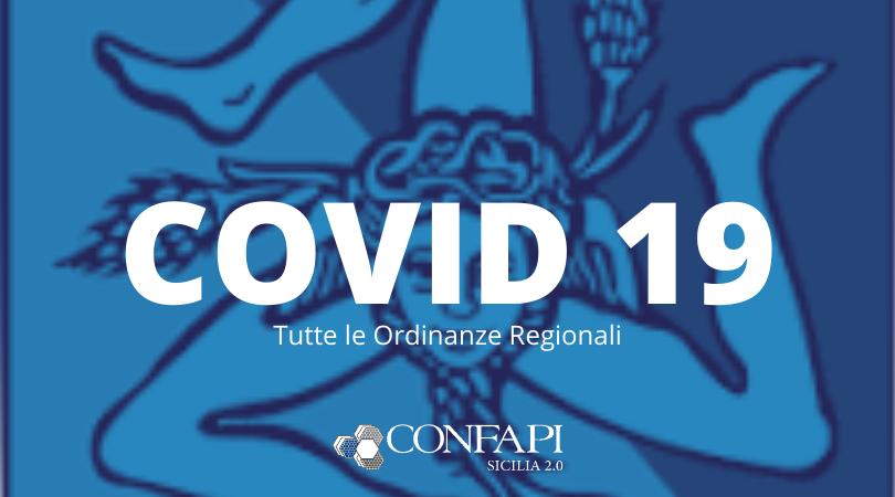COVID-19: Elenco Aggiornato delle Ordinanze della Regione Sicilia
