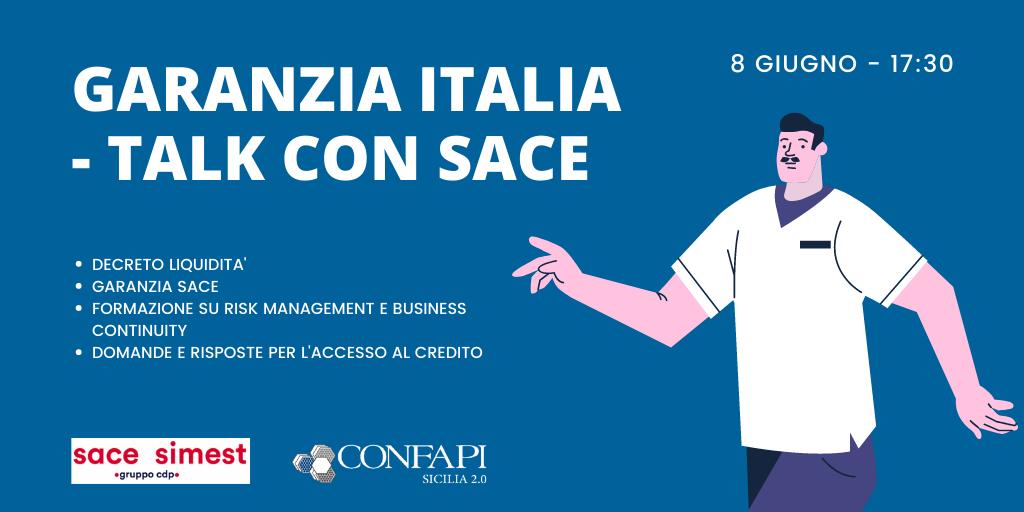 COVID-19: webinar con Sace-Simest su Garanzia Italia